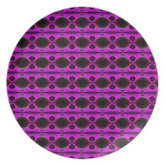 Purple Dreams Melamine Plate