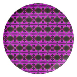 Purple Dreams Melamine Plate