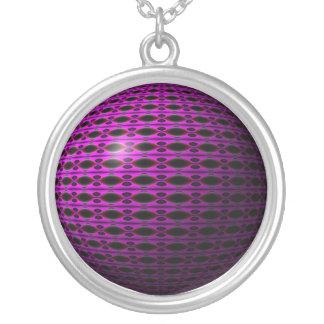 Purple Dreams Round Pendant Necklace