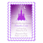 Purple Dreamy Castle In The Clouds Baby Shower Card