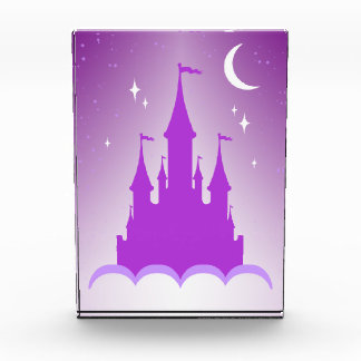Purple Dreamy Castle In The Clouds Starry Moon Sky Award