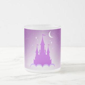 Purple Dreamy Castle In The Clouds Starry Moon Sky Mug