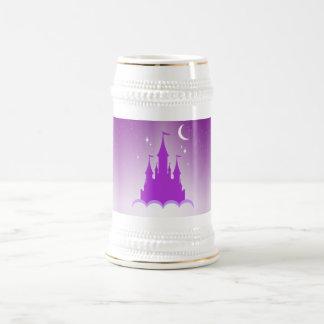 Purple Dreamy Castle In The Clouds Starry Moon Sky 18 Oz Beer Stein