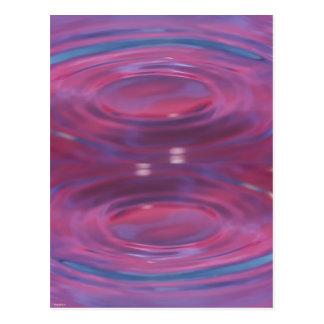 Purple drop puddle postcard