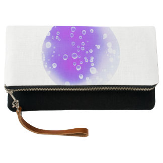 Purple Drops Clutch Bag
