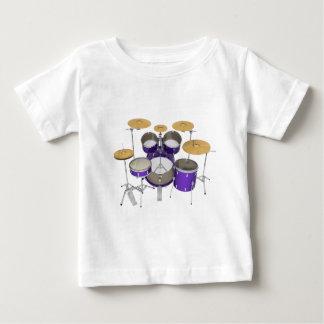 Purple Drum Kit: Baby T-Shirt