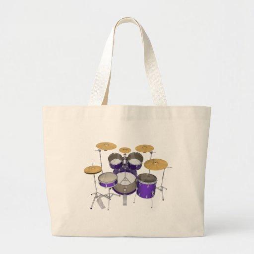 Purple Drum Kit: Bags