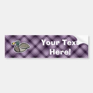 Purple Duck Car Bumper Sticker