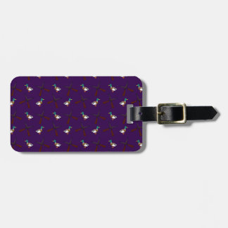 purple duck hunting pattern tag for bags