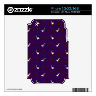 purple duck hunting pattern decals for the iPhone 2G