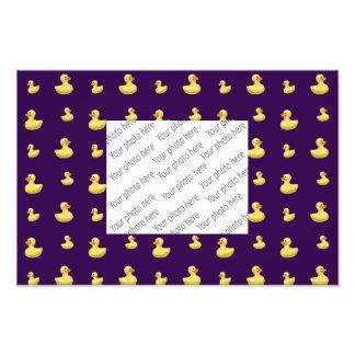 Purple duck pattern photo