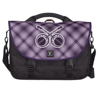 Purple Dueling Banjos Laptop Commuter Bag