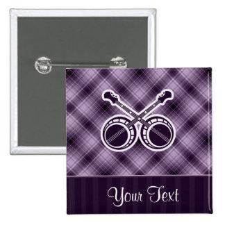Purple Dueling Banjos Pinback Button