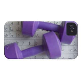 Purple dumbbells. iPhone 4 cover