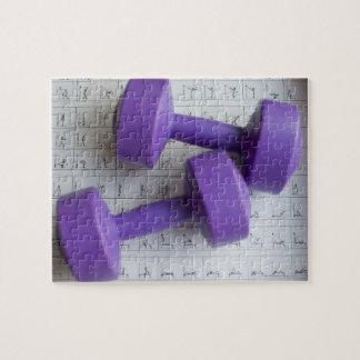 Purple dumbbells. jigsaw puzzle