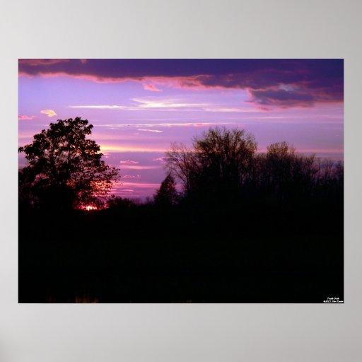 Purple Dusk Poster