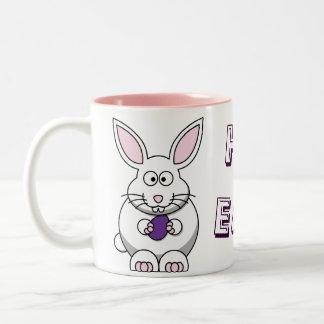 Purple Easter Egg Bunny Happy Easter! Mug