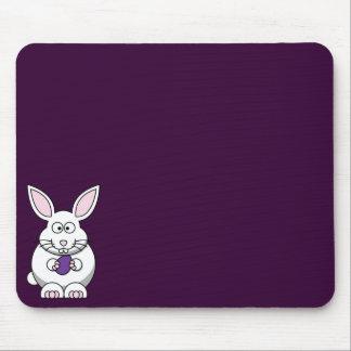 Purple Easter Egg Bunny Mousepad 1