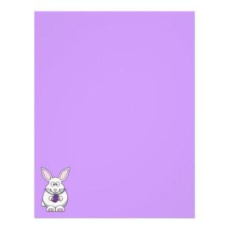 Purple Easter Egg Bunny Recycled Letterhead 1