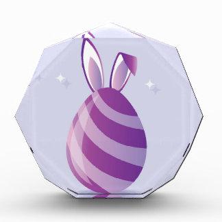 Purple Easter Egg with bunny Ears vector Award