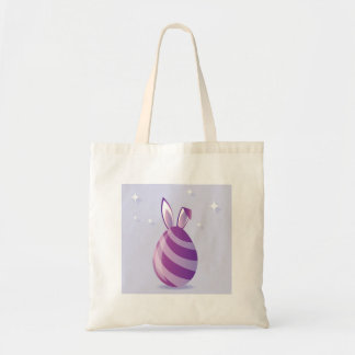 Purple Easter Egg with bunny Ears vector Tote Bag