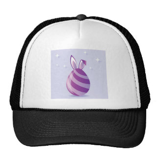 Purple Easter Egg with bunny Ears vector Trucker Hat
