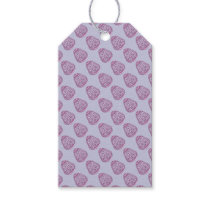 Purple Easter Egg with Pink Dots Gift Tags