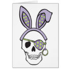 Purple Easter Skull Card