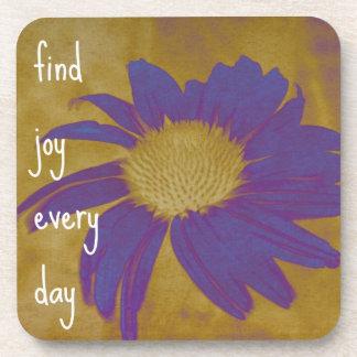 Purple Echinacea Art Joy Coaster Set