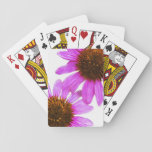 Purple Echinacea Flower Abstract Playing Cards
