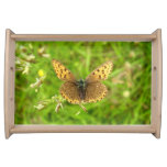 Purple Edged Copper Butterfly Serving Tray