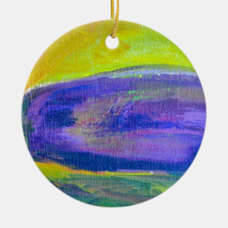 Purple Eggplant Painting Ceramic Ornament