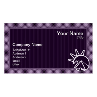 Purple Egyptian Pyramid Double-Sided Standard Business Cards (Pack Of 100)