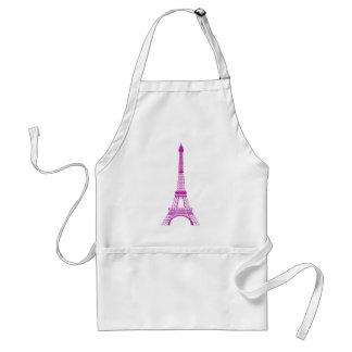 Purple Eiffel Tower Adult Apron