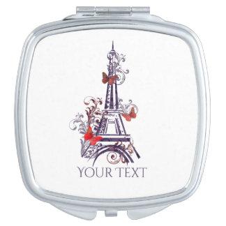 Purple Eiffel Tower Butterflies mirror