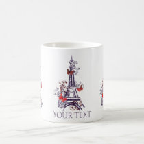 Purple Eiffel Tower Butterflies mug