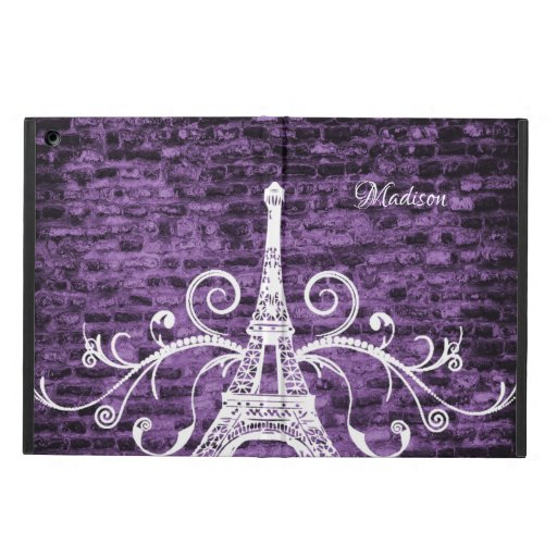 Purple Eiffel Tower Grunge Case For iPad Air