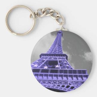 Purple Eiffel Tower Keychain