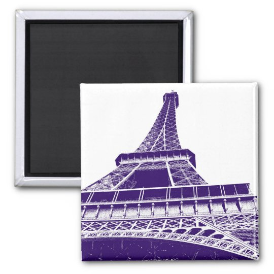 Purple Eiffel Tower Magnet