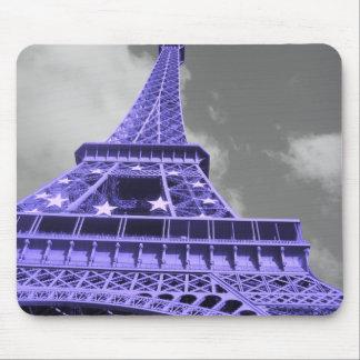 Purple Eiffel Tower Mouse Pad
