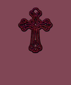 Purple Electric Cross T-shirts
