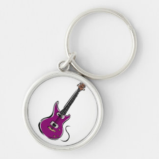purple electric guitar music graphic.png keychain