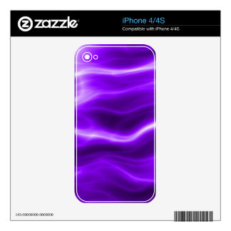 Purple Electric TPD Decal For The iPhone 4