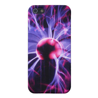 Purple Electricity Eminating from a Plasma Lamp Covers For iPhone 5