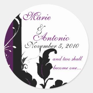Purple Elegance Wedding Sticker