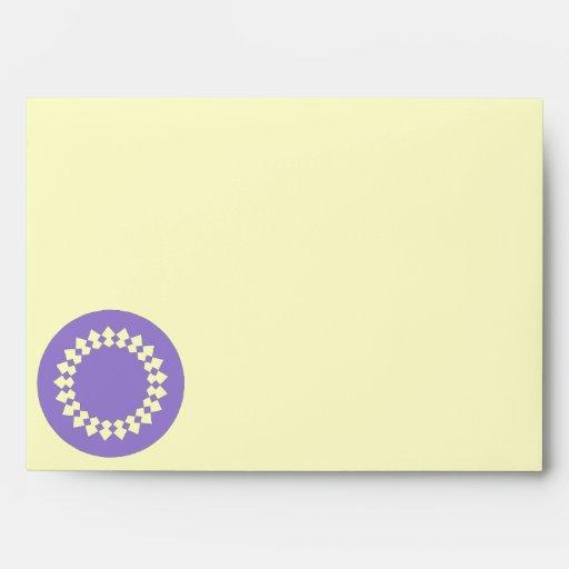 Purple Elegant Round Design. Art Deco Style Envelope