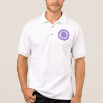 Purple Elegant Round Design. Art Deco Style Polo Shirt