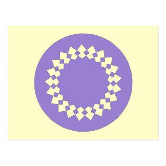 Purple Elegant Round Design. Art Deco Style Postcard