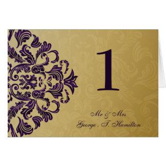 purple Elegant table seating card