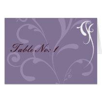 Purple Elegant Wedding Cards